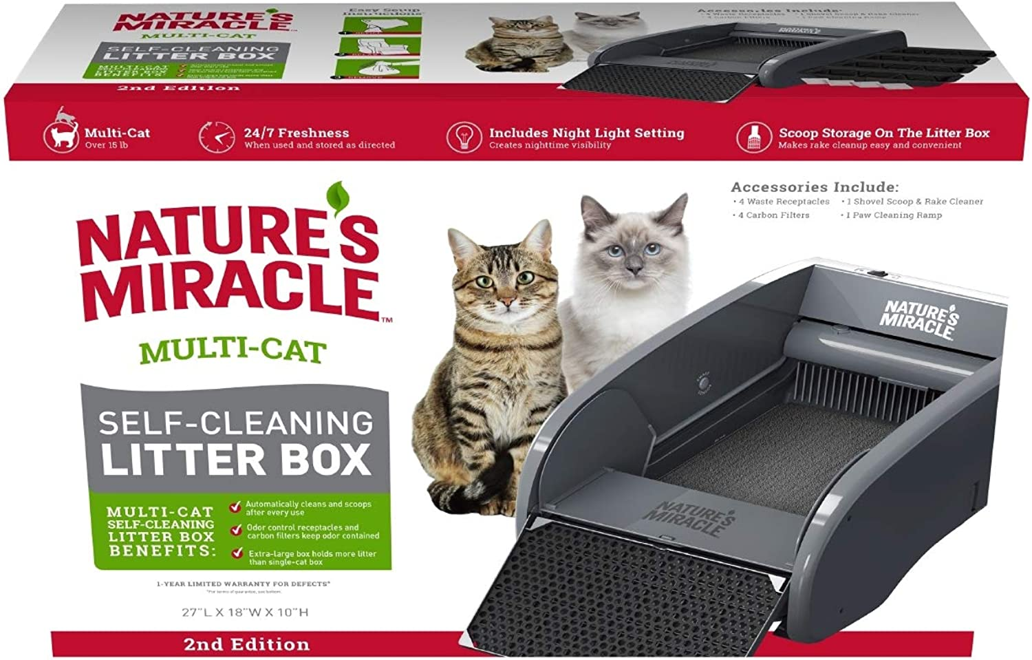 Nature's Miracle Nature's Miracle MultiCat SelfCleaning Litter Box