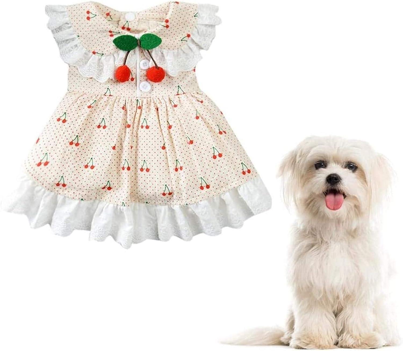 Max 86% OFF Luckylele Dog Dresses Puppy Dress Clothes Cat Cute Rare D