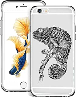 hekui Grey Chameleon iPhone 6s 6 Case, Ultra Durable Shock-Absorption Anti-slip Protection Scratch Resistant Case for iPhone 6s 6 - Crystal, Clear