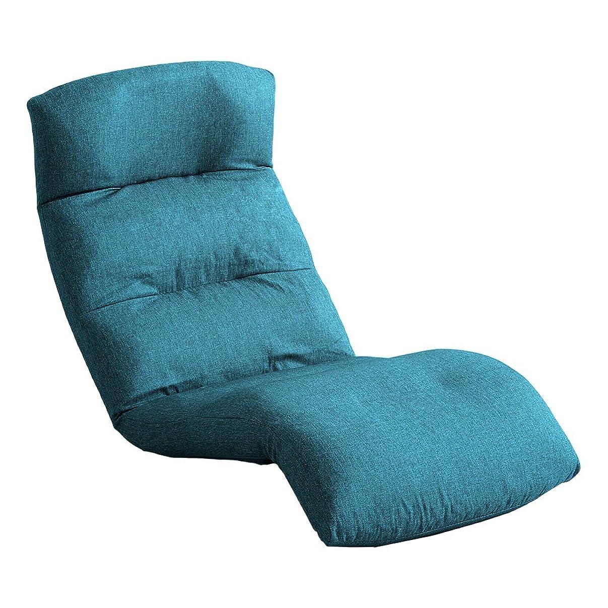 支配する等泥日本製リクライニング座椅子(布地、レザー)14段階調節ギア、転倒防止機能付き | Moln-モルン- Down type ターコイズブルー