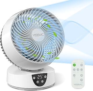 YISSVIC Ventilateur Silencieux avec Télécommande Ventilateur à Circulation d'Air 3D Oscillation 3 Vitesses Minuterie 9H po...