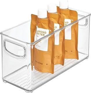 iDesign bac rangement frigo, petite boîte alimentaire spacieuse en plastique, boîte conservation alimentaire à poignées, t...