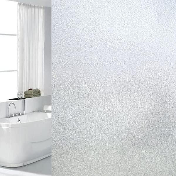 YORIEVER Frosted Window Films Privacy No Glue Anti Uv Windows Film 23 6 78 7Inch 60CM X 200CM