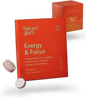 NeuroGum Nootropic Cinnamon Flavor Energy Gum | Caffeine + L-theanine + B Vitamins | Sugar Free + Gluten Free + Non GMO + ...