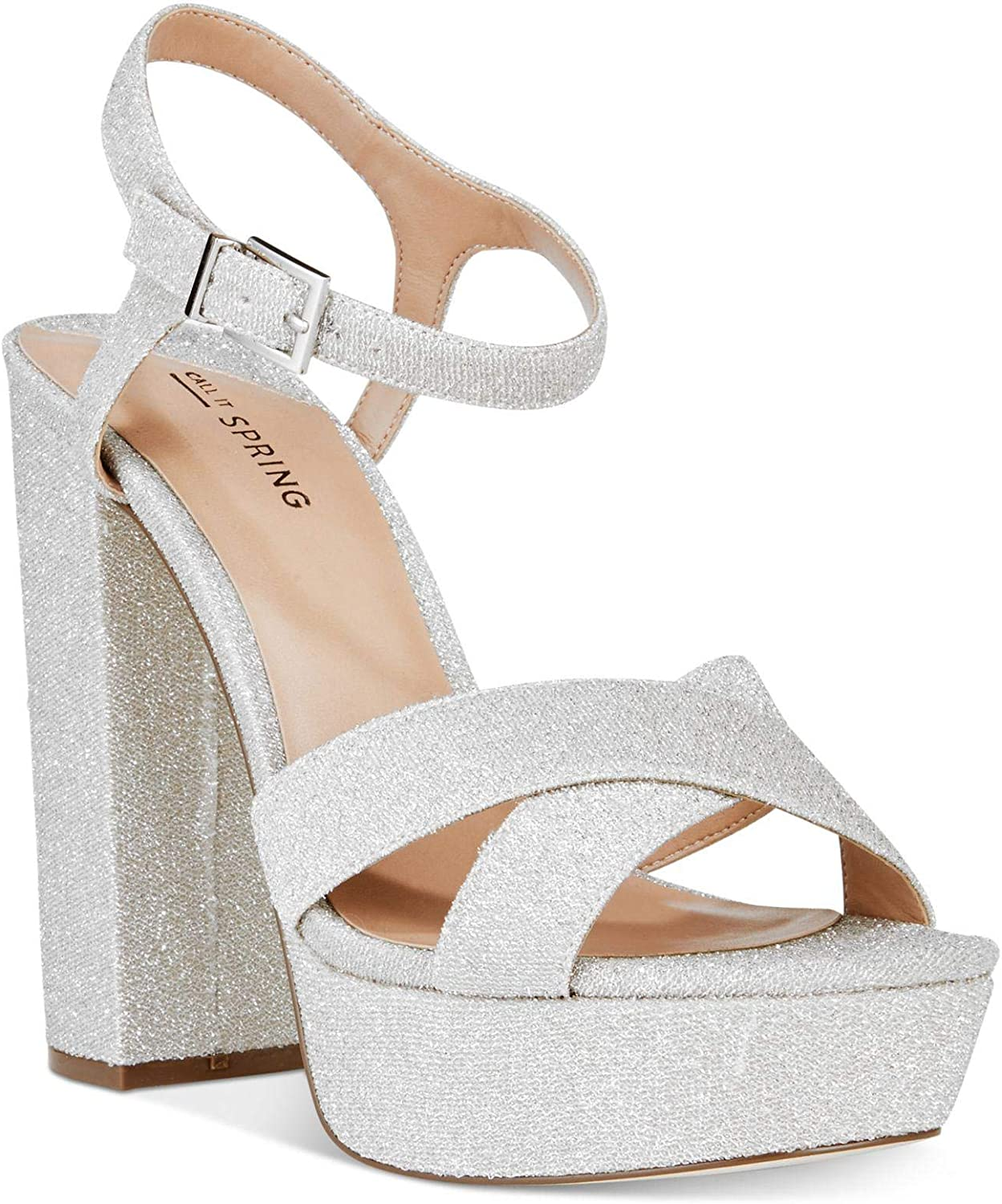 Call It Spring Womens Thorerien-81 Fabric Open Toe Casual Ankle Strap Sandals