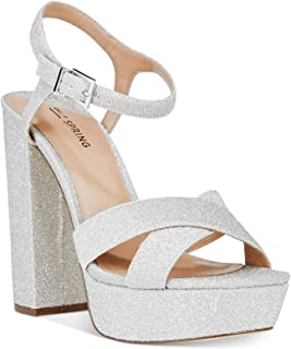 8273f179d2c Call It Spring Womens Thorerien-81 Fabric Open Toe Casual Ankle Strap  Sandals