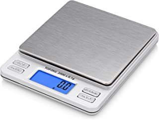 Smart Weigh Digital Pro Pocket Scale with Back-Lit LCD Display, Tare, Hold and PCS Features, 2000 x 0.1gram