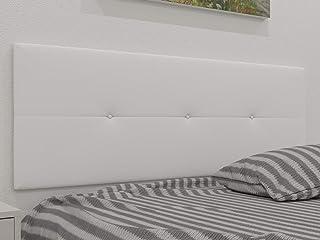 comprar comparacion LA WEB DEL COLCHON - Cabecero tapizado Julie para Cama de 150 (160 x 55 cms) Blanco