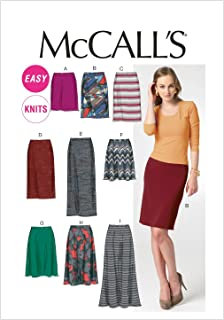 McCall Patterns M6654 Misses' Skirts Sewing Template, Size A5 (6-8-10-12-14)
