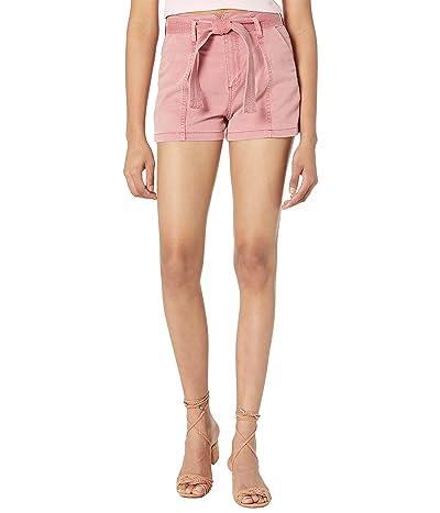 Paige Anessa Shorts w/ Peak Waistband + Seamed Pleats + Self Belt in Vintage Soft Rose