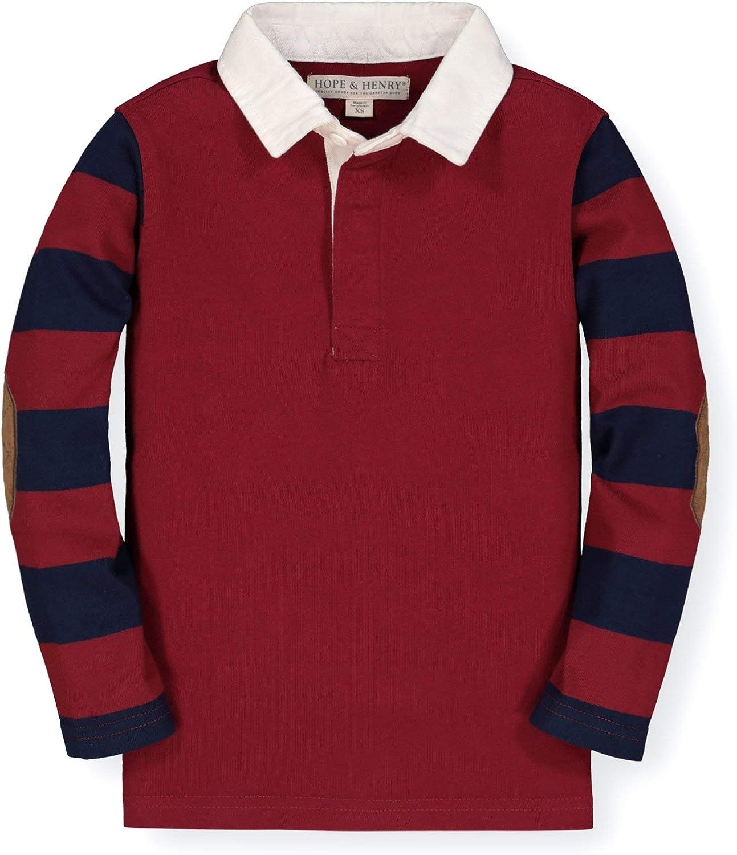 Hope & Henry Boys' Long Sleeve Rugby Polo Shirt