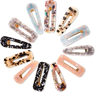 Cridoz 12 peças de presilhas de cabelo de resina acrílica para acessórios de cabelo femininos