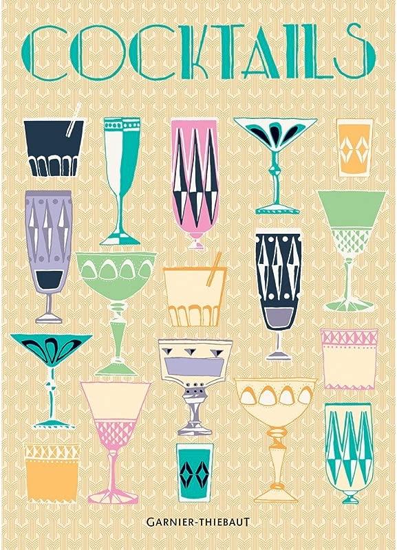 Garnier Thiebaut Cocktails Pale Orange Printed French Kitchen Tea Towel 100 Percent Cotton 22 In X 30 In