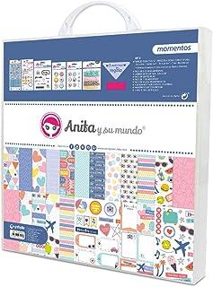Anita y Su Mundo Momentos Kit de scrapbooking, multicolore, 31 x 31 cm, 8