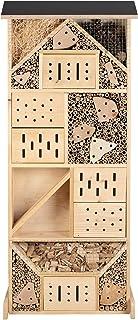 Gardigo Insektenhotel XXL Made in Germany   Insektenhaus für den Garten, 116 cm groß   Nisthaus für Wildbienen, Florfliegen, Marienkäfer und Schmetterlinge, aus Holz