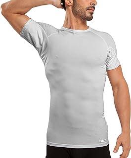 Ejis Sweat Defense Undershirt | Crew Neck | Underarm Sweat Proof Micro Modal
