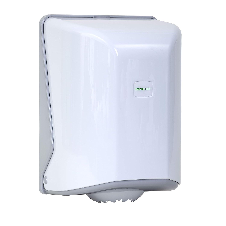 Medichief Dispensador de toallas de rollo Centrefeed | Dispensador de toallas para rollo de papel no perforado | Dispensador montado en la pared para toallas de mano