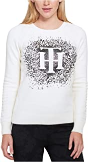 TOMMY HILFIGER Womens Knit Embellished Pullover Sweater