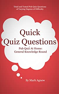 Quick Quiz Questions Pub Quiz At Home: General Knowledge Round