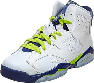 Kids' Nike Air 6 Retro Bg White/Mango/Green 384665-114