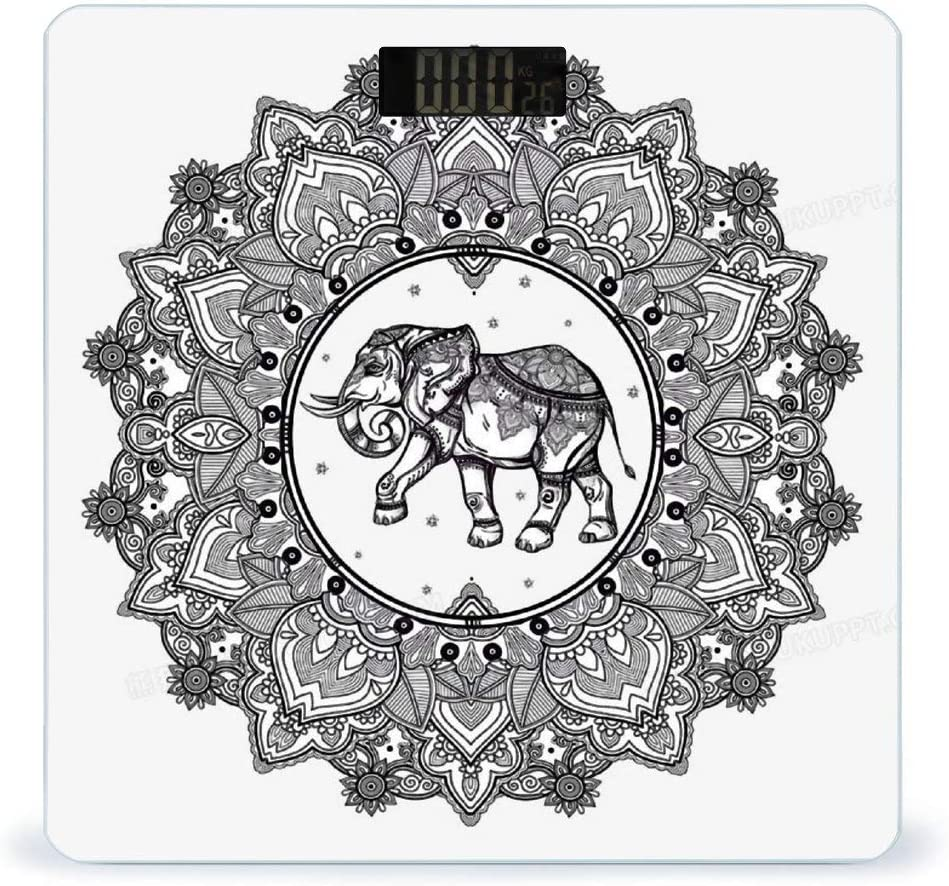 CHUFZSD Mandala New sales Nashville-Davidson Mall Motif with Elephant Smart Fitnes Highly Accurate