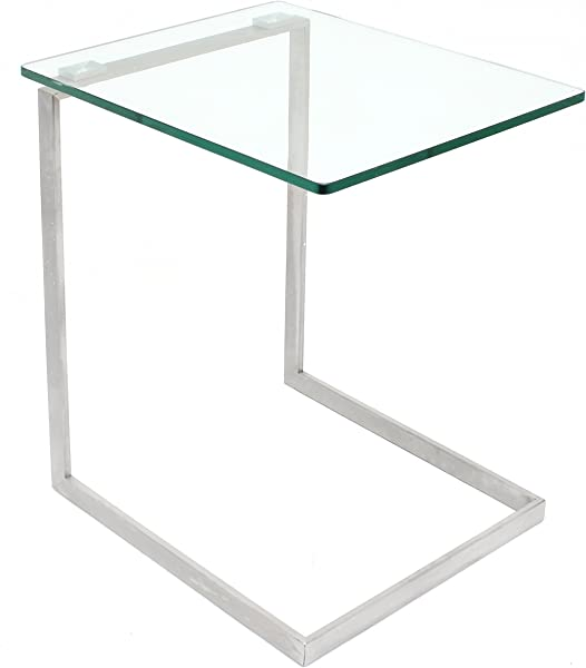 LumiSource Zenn Glass End Table