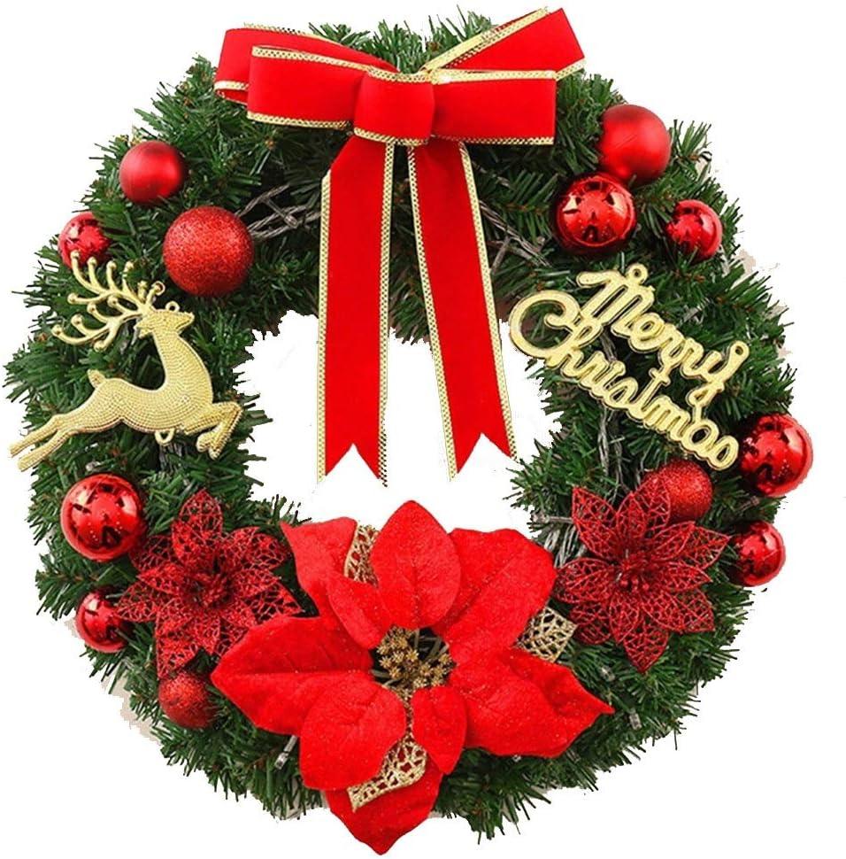 5 ☆ very popular JINJINTAO Christmas Ornament Garland Pendant Year-end gift Wreath F Decorative