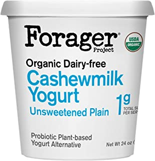 Forager Project, Organic Dairy-Free Unsweetened Plain Cashewmilk Yogurt Alternative, 24 Ounce