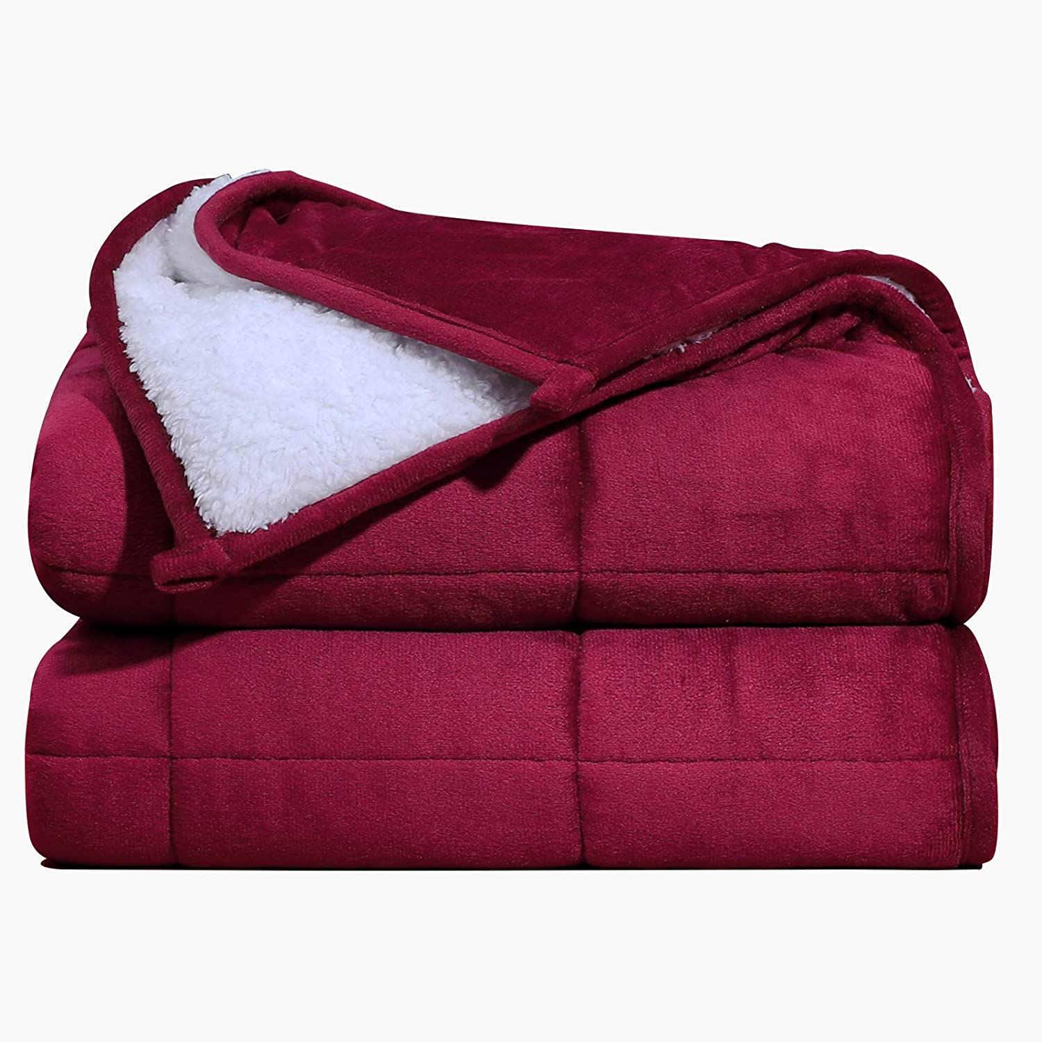 Max 79% OFF Max 47% OFF Argstar Sherpa Fleece Weighted Blanket for On 20 Adults Lbs Quee
