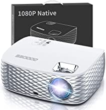 Projector, GooDee BL98 Native 1080P HD Video Projector, Touch Keys Home Theater Projector..