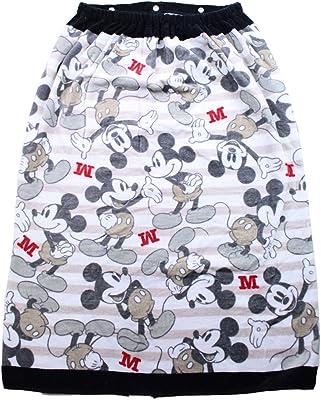 林 ミッキーマウス ストレート 巻きタオル Lサイズ (縦80×横120cm) (ブラック) MD457900