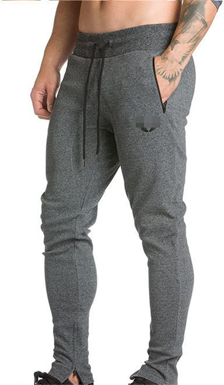 Dapengzhu New Men Pants SportsRunning Sweatpants SoccerPrinting Casual Trouser Bodybuilding Fitness Sweat Pants