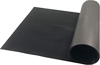 Resilia V-Groove Professional Utility Runner – Black, 36 Inches Wide X 6 Feet Long, Heavy Duty Floor Runner, Made in The USA