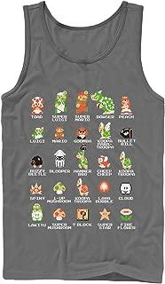 Nintendo Men's Super Mario Bros Character Guide Tank Top