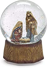 One Holiday Way Rustic Silent Night Nativity Snow Globe – Tabletop Christmas Decoration