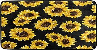 ALAZA Watercolor Sunflower Floral Non Slip Kitchen Floor Mat Kitchen Rug for Entryway Hallway Bathroom Living Room Bedroom...