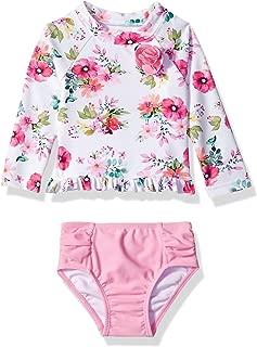 Little Me Unisex-Baby Girls UPF 50+ 2-Piece Rashguard