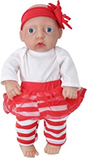 Vollence 11-inch Full Silicone Baby Dolls, Not Vinyl Dolls, Realistic Baby Doll, Real Reborn Baby Dolls, Newborn Baby Dol...