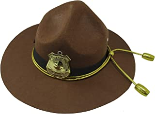 Nicky Bigs Novelties Super State Trooper Highway Patrol Costume Hat, Brown Gold, One Size