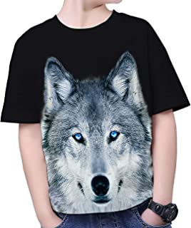 Boys Girls Graphic Tee Shirts Fasion 3D Printed Top T-Shirts Short Sleeve Tshirts 6-16 Years