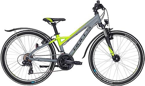 Jugend Fahrrad 24 Zoll grau - Bulls Bike Sharptail Street - Shimano Kettenschaltung, StVZO Beleuchtung