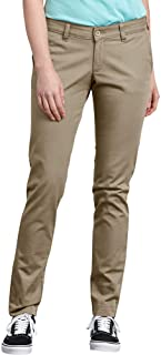Dickies Women's Mid-Rise, Skinny Stretch Twill Pant