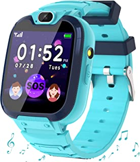 Smartwatch Niños - MP3 Música 14 Juegos Niños Reloj Inteligente llamada Chat de Voz SOS linterna Cámara Vídeo Digital Pant...