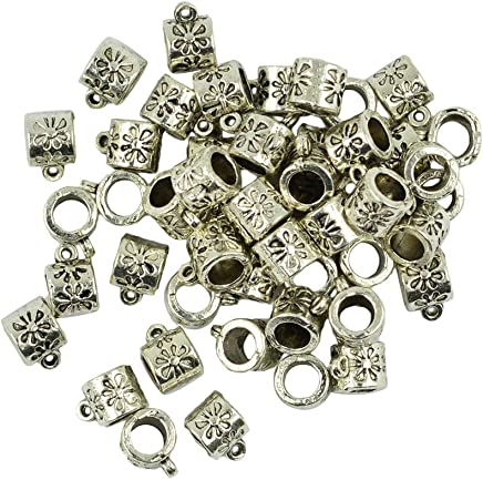 Amarzk 100Pcs 4 Colors Mixed Bar Pin Back Clasp Brooch Name Badge Craft Jewelry Making