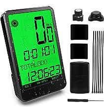 Gafild Cuentakilómetros para Bicicleta Inalámbrica, LCD Computadora de Bicicleta Impermeable Velocímetro Bici con 32 Funciones y 9 Idiomas para Seguimiento Distancia de Ciclismo