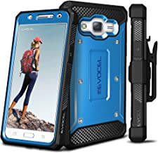 Galaxy J7 (2015) Case, Evocel [Explorer Series] Premium Full Body Case with Rugged Belt Clip Holster for Samsung Galaxy J7 (J700), Blue (EVO-SAMJ7-ZZ02)