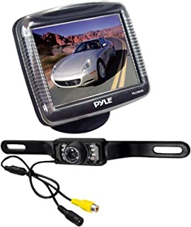 Pyle Backup Rear View Car Camera Monitor Screen System Kit - Parking & Reverse Safety Distance Scale Lines, Waterproof, Ni...