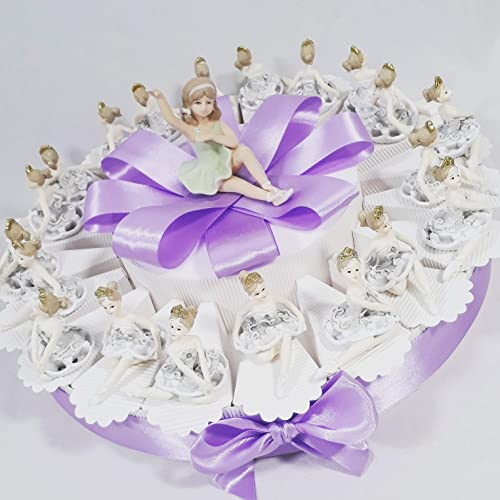 Sindy Bomboniere Gateau bonbonnière pour communion et baptême, avec ballerines de soucravaten Tprta Da 60 Fette