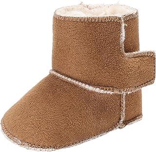 1f908350f5eb0 YiJee Bébé Enfants Garder au Shaud Bottes de Neige Couleur Unie  Antidérapant Chaussures de Semelles Souples