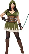 California Costumes Women's Size Lady Robin Hood Adult Woman Plus Costume, Olive/Brown